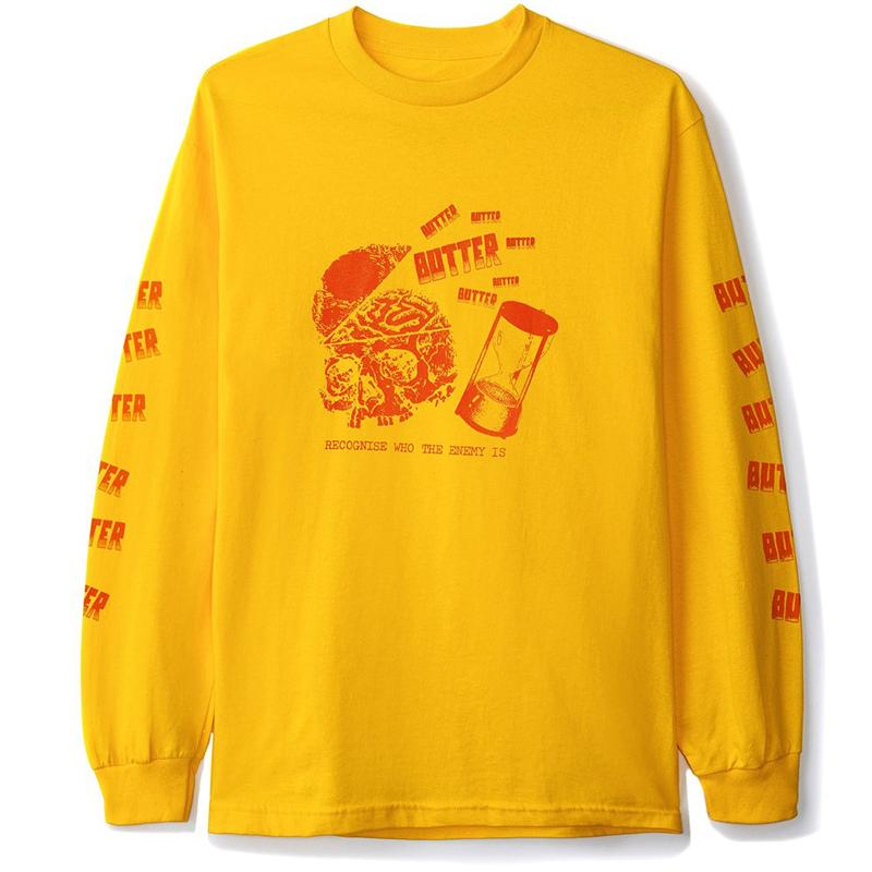 Butter Goods Enemy Longsleeve T-Shirt Gold