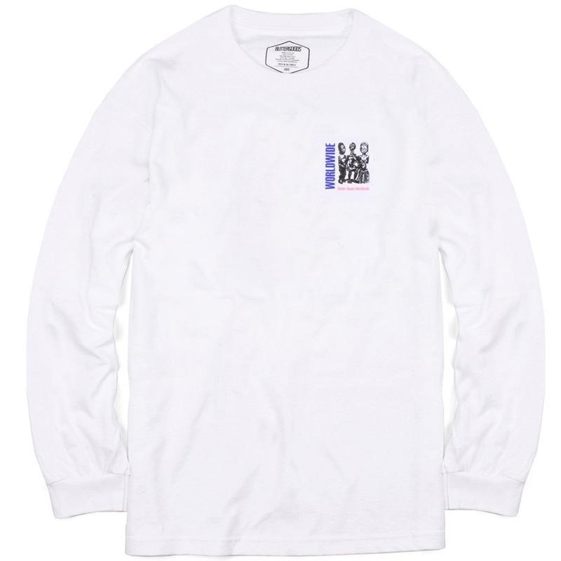 Butter Goods Temple Longsleeve T-Shirt White
