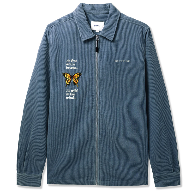 Buttergoods Butterfly Longsleeve Workshirt Stone Blue