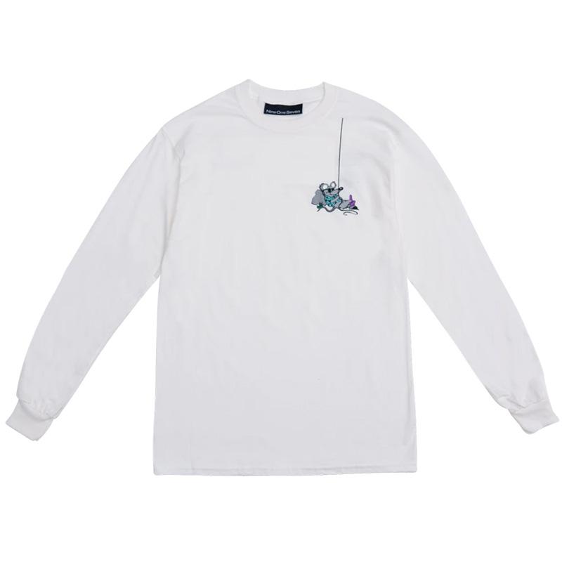 Call Me 917 Rat White Longsleeve T-Shirt White