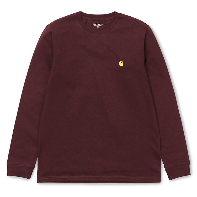Carhartt Chase LongsleeveT-Shirt Amarone Heather/Gold