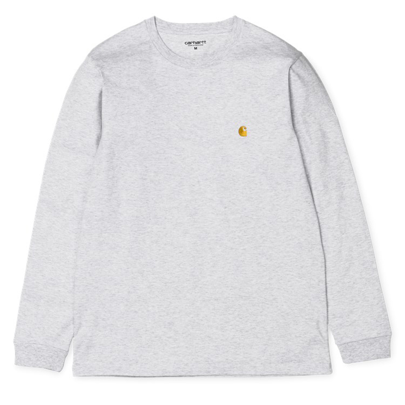 Carhartt Chase Longsleeve T-Shirt Ash Heather /Gold