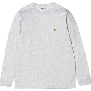 Carhartt Chase Longsleeve T-Shirt Ash Heather/Gold