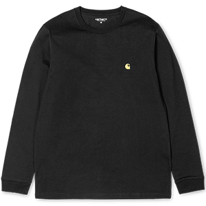 Carhartt Chase Longsleeve T-Shirt Black/Gold