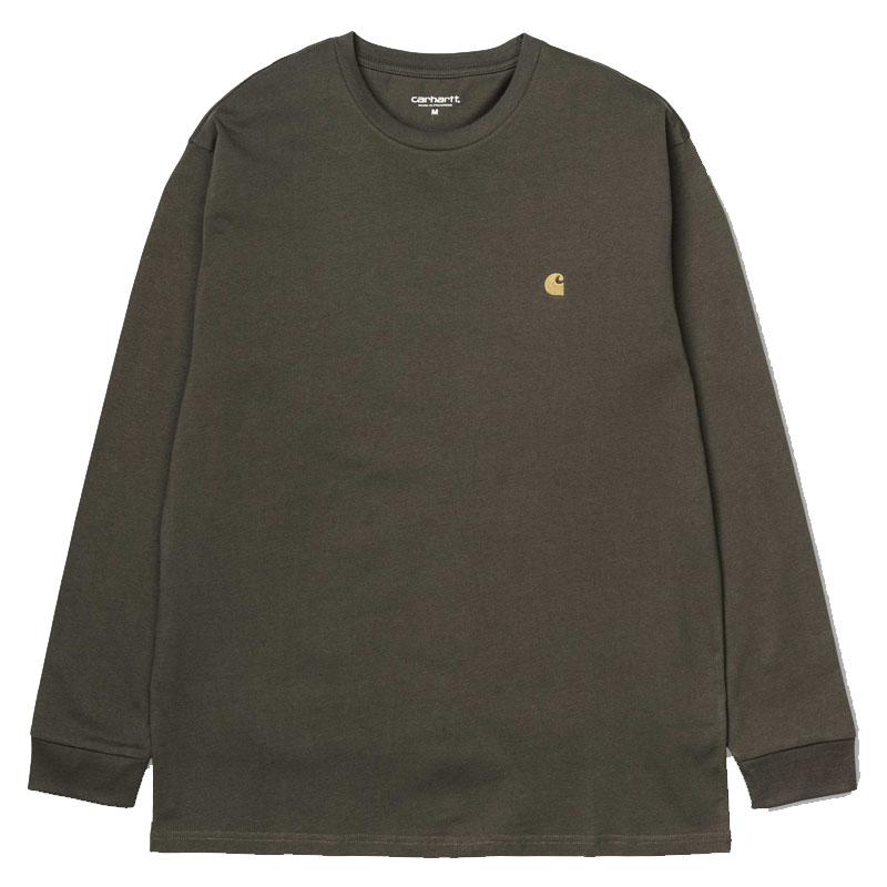 Carhartt WIP Chase Longsleeve T-Shirt Cypress/Gold