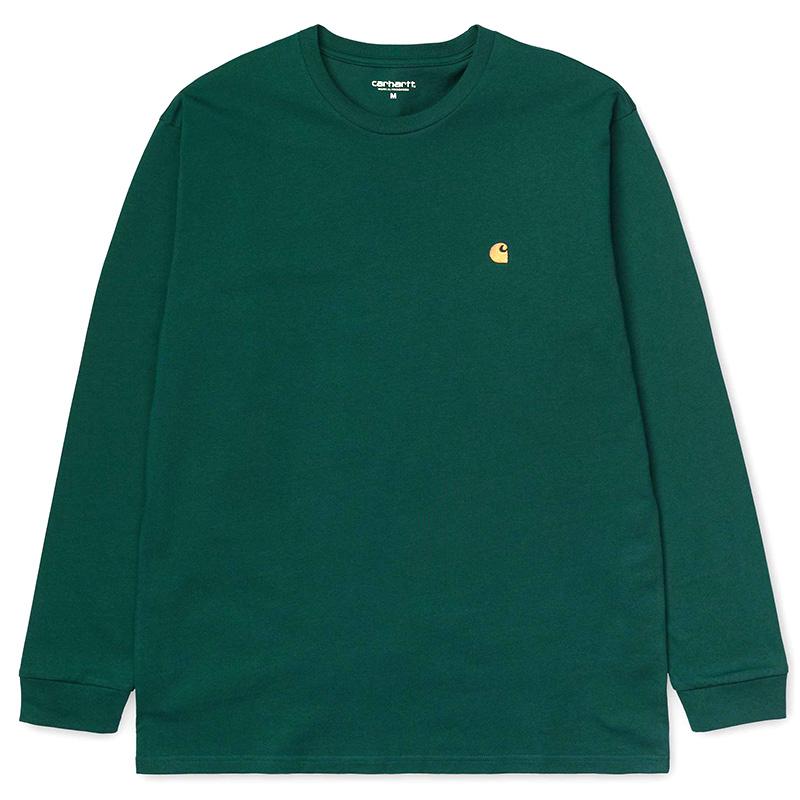 Carhartt WIP Chase Longsleeve T-Shirt Dark Fir/Gold