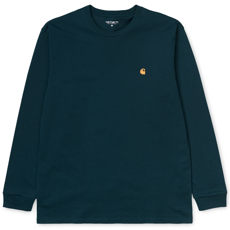 Carhartt Chase Longsleeve T-Shirt Duck Blue/Gold