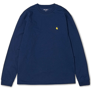 Carhartt Chase Longsleeve T-Shirt Metro Blue/Gold