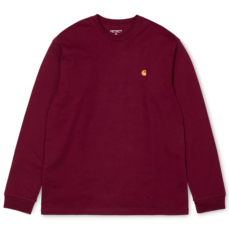 Carhartt Chase Longsleeve T-Shirt Mulberry/Gold