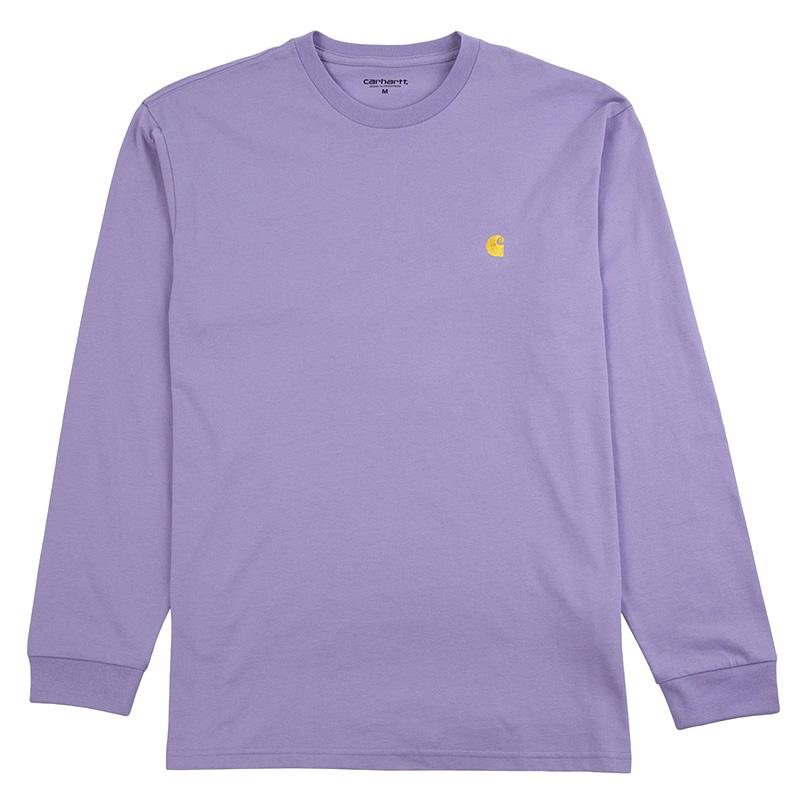 Carhartt Chase Longsleeve T-Shirt Soft Lavender/Gold