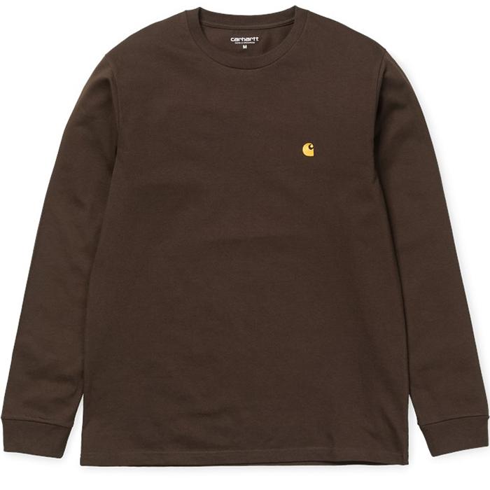 Carhartt Chase Longsleeve T-Shirt Tobacco/Gold