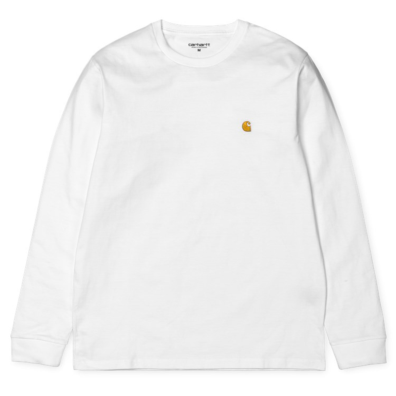 Carhartt Chase Longsleeve T-Shirt White/Gold
