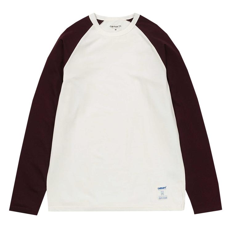 Carhartt Dodgers Longsleeve T-Shirt Wax/Damson