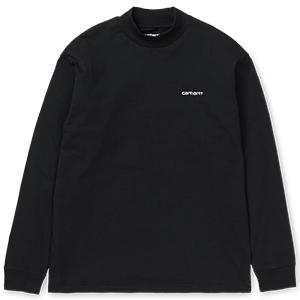 Carhartt Highneck Script Embro Longsleeve T-shirt Black/White
