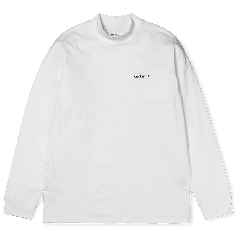 Carhartt Highneck Script Embro Longsleeve T-shirt White/Black