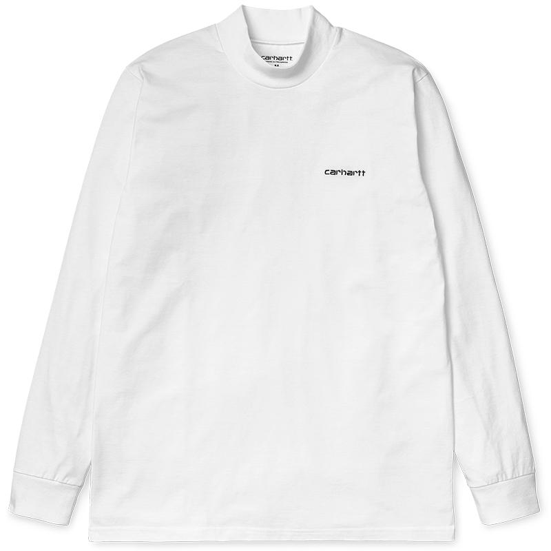 Carhartt Highneck Script Longsleeve T-shirt White/Black