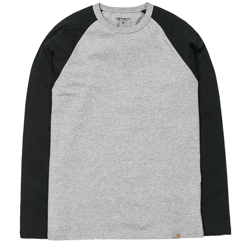 Carhartt Dodgers Longsleeve T-shirt Grey Heather/Black