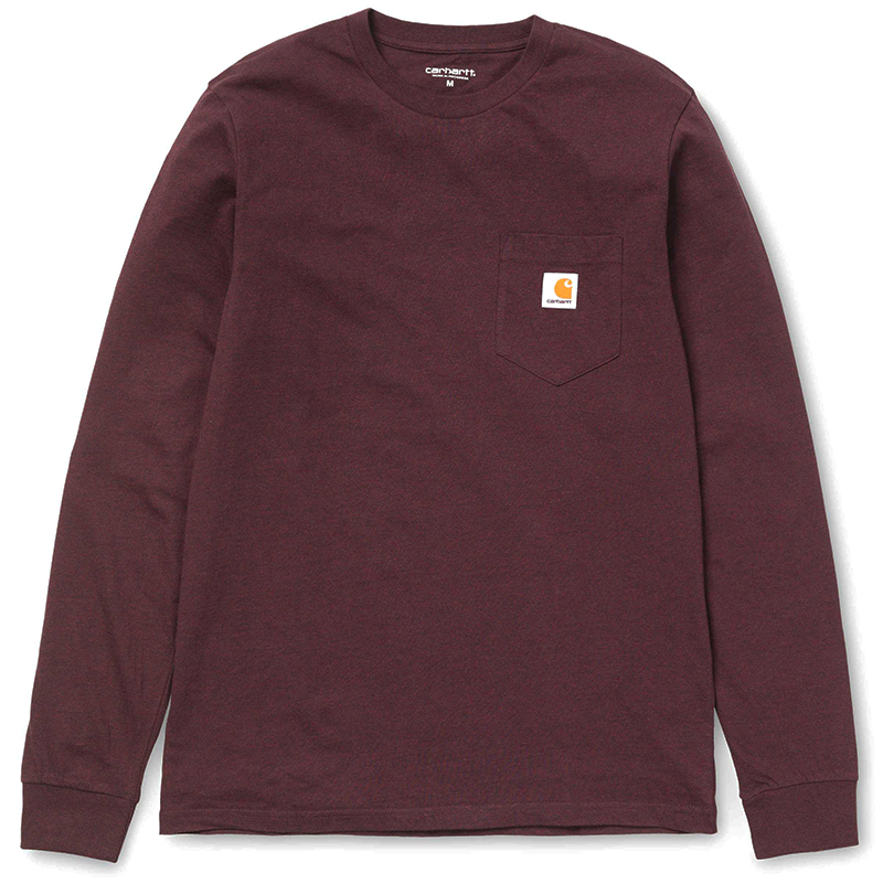 Carhartt Pocket Longsleeve T-Shirt Damson Heather