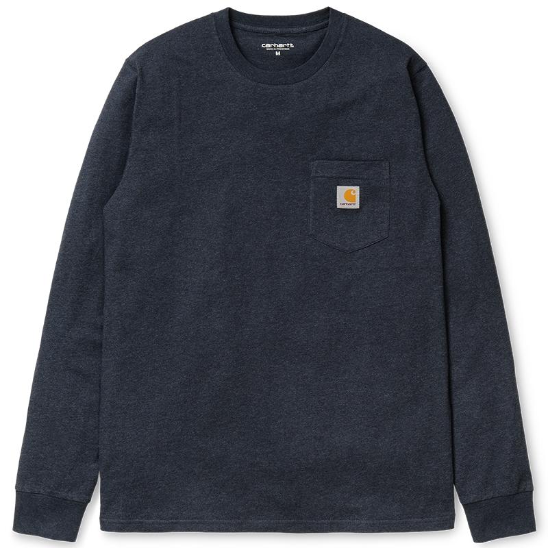 Carhartt Longsleeve Pocket T-Shirt Dark Navy Heather