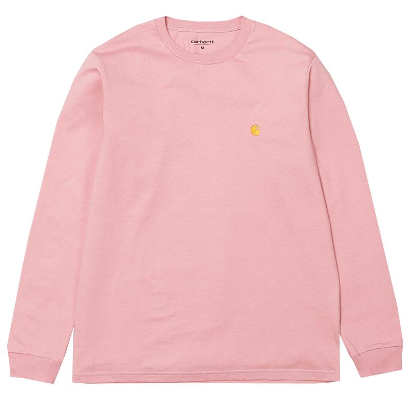 Carhartt Chase Longsleeve T-Shirt Soft Rose/Gold