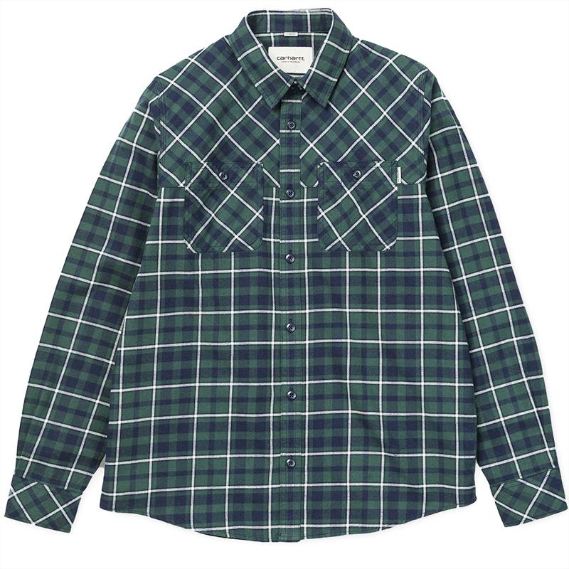 Carhartt Longsleeve Torres Shirt Torres Check Conifer