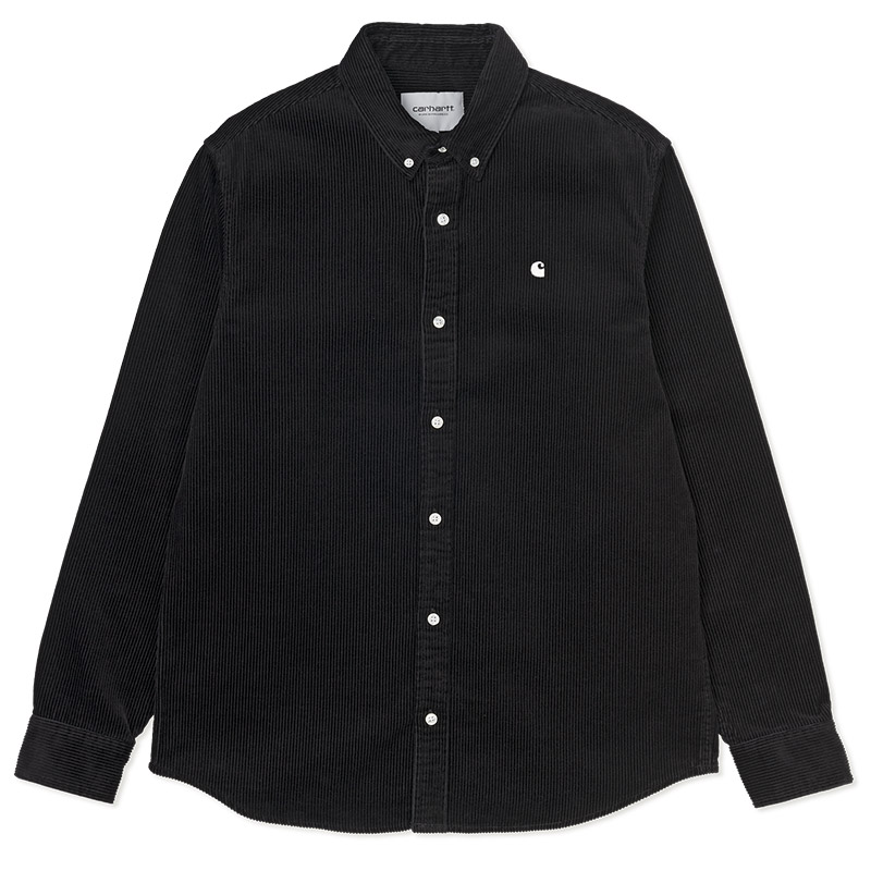 Carhartt WIP Madison Cord Shirt Black/White