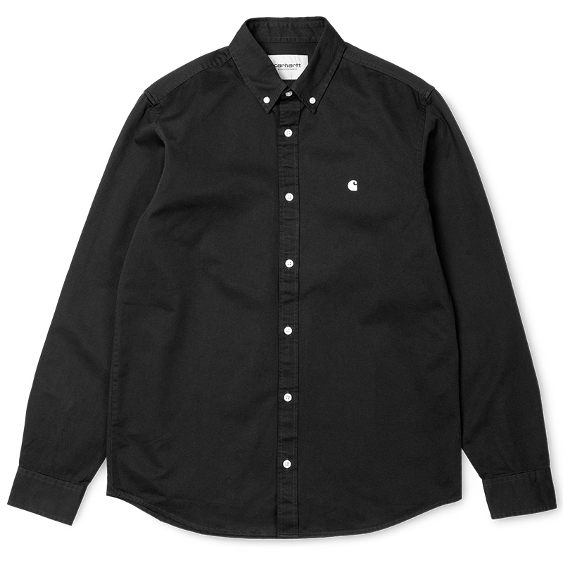 Carhartt Madison Longsleeve Shirt Black/White