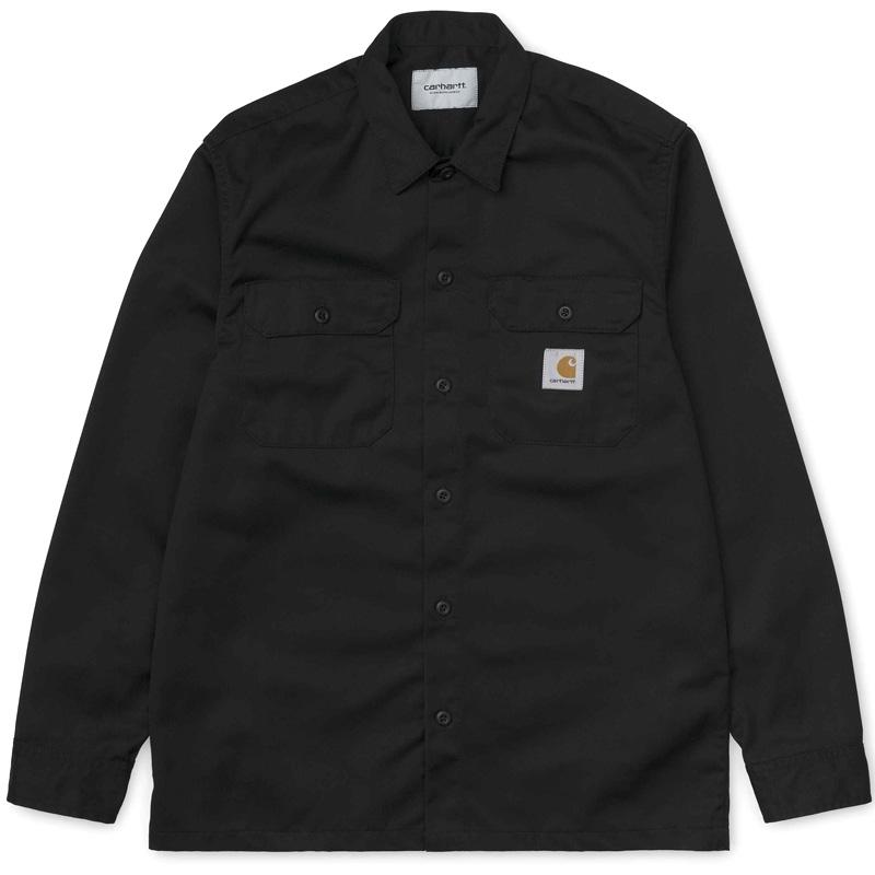 Carhartt Master Longsleeve T-Shirt Black Rinsed