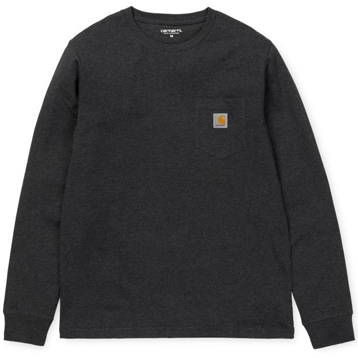 Carhartt Pocket Longsleeve T-shirt Black Heather