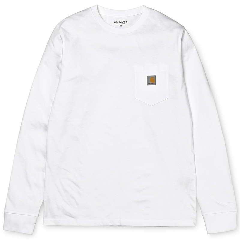 Carhartt Pocket Longsleeve T-Shirt White