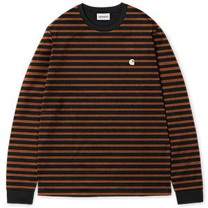 Carhartt Robie Longsleeve T-Shirt Black/Hamilton Brown/Wax