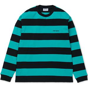 Carhartt Roslyn Longsleeve T-Shirt Roslyn Stripe Black/Cauma