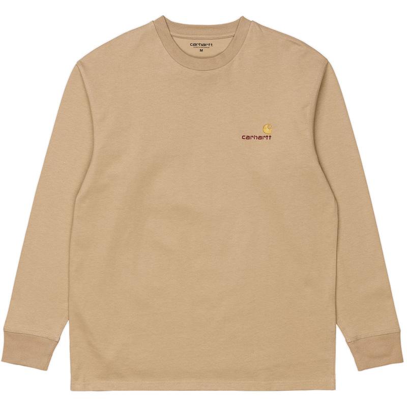 Carhartt WIP American Script Longsleeve T-Shirt Dusty H Brown