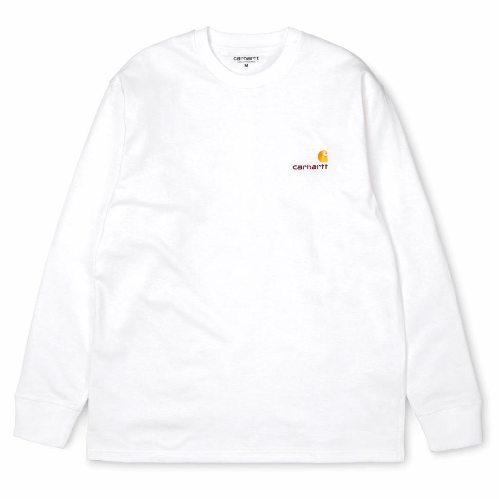 Carhartt WIP American Script Longsleeve T-Shirt White