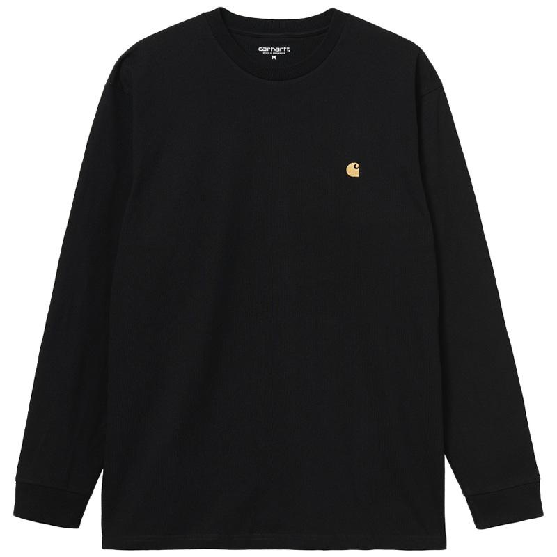 Carhartt WIP Chase Longsleeve T-Shirt Black/Gold