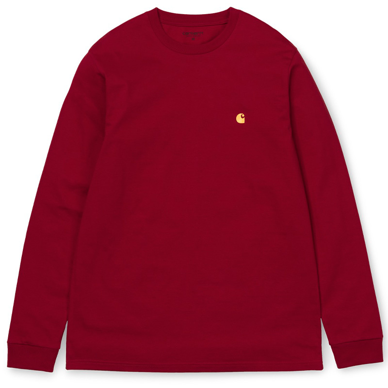 Carhartt WIP Chase Longsleeve T-Shirt Cardinal/Gold