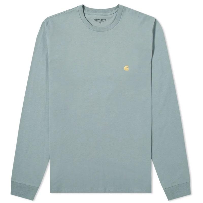 Carhartt WIP Chase Longsleeve T-Shirt Cloudy/Gold