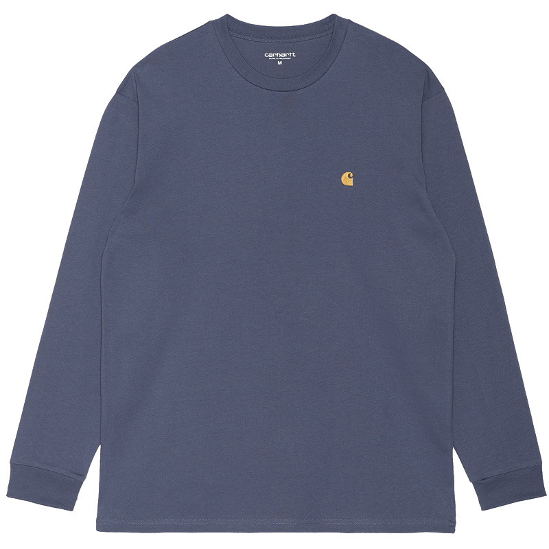 Carhartt WIP Chase Longsleeve T-Shirt Cold Viola/Gold