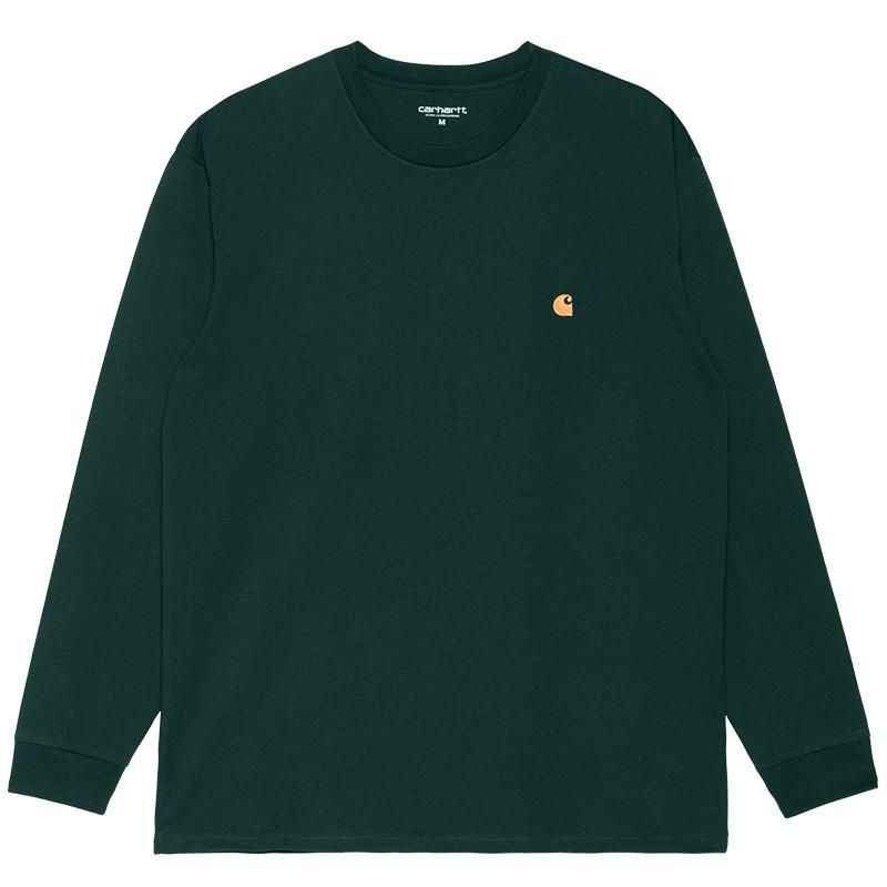 Carhartt WIP Chase Longsleeve T-Shirt Frasier/Gold