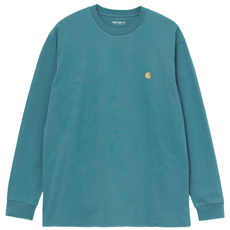 Carhartt WIP Chase Longsleeve T-Shirt Hydro/Gold