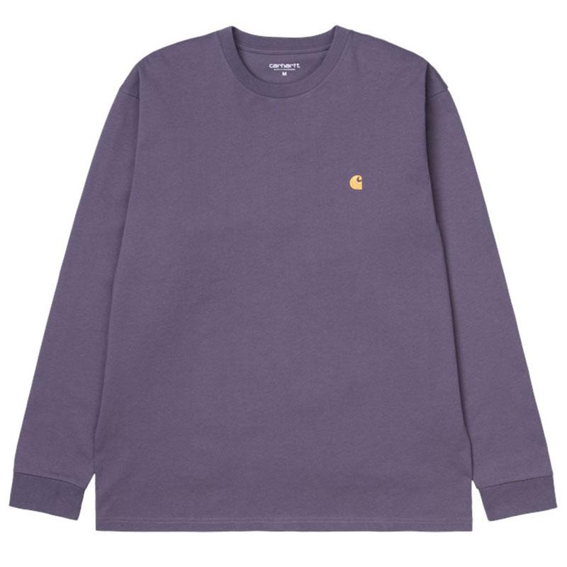 Carhartt WIP Chase Longsleeve T-Shirt Provence/Gold
