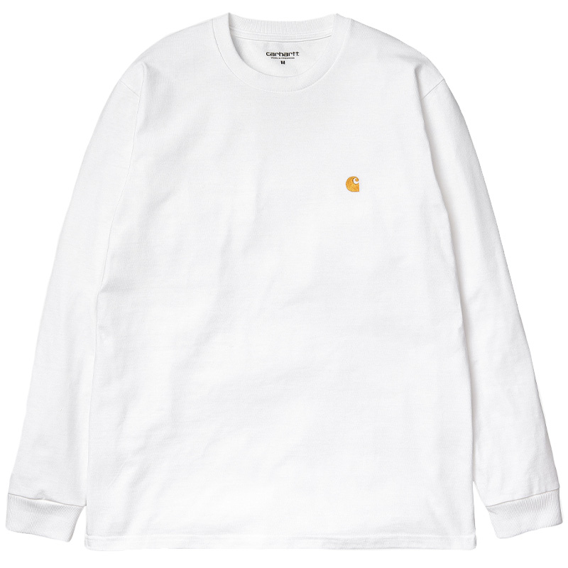 Carhartt WIP Chase Longsleeve T-Shirt White/Gold
