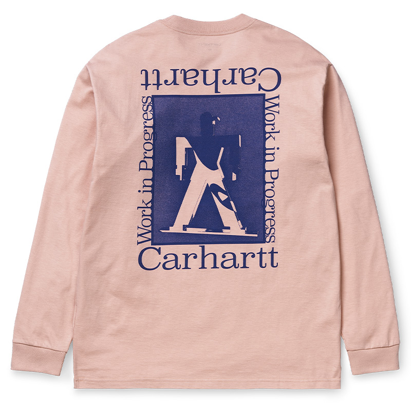 Carhartt WIP Foundation Longsleeve T-Shirt Powdery/Blue