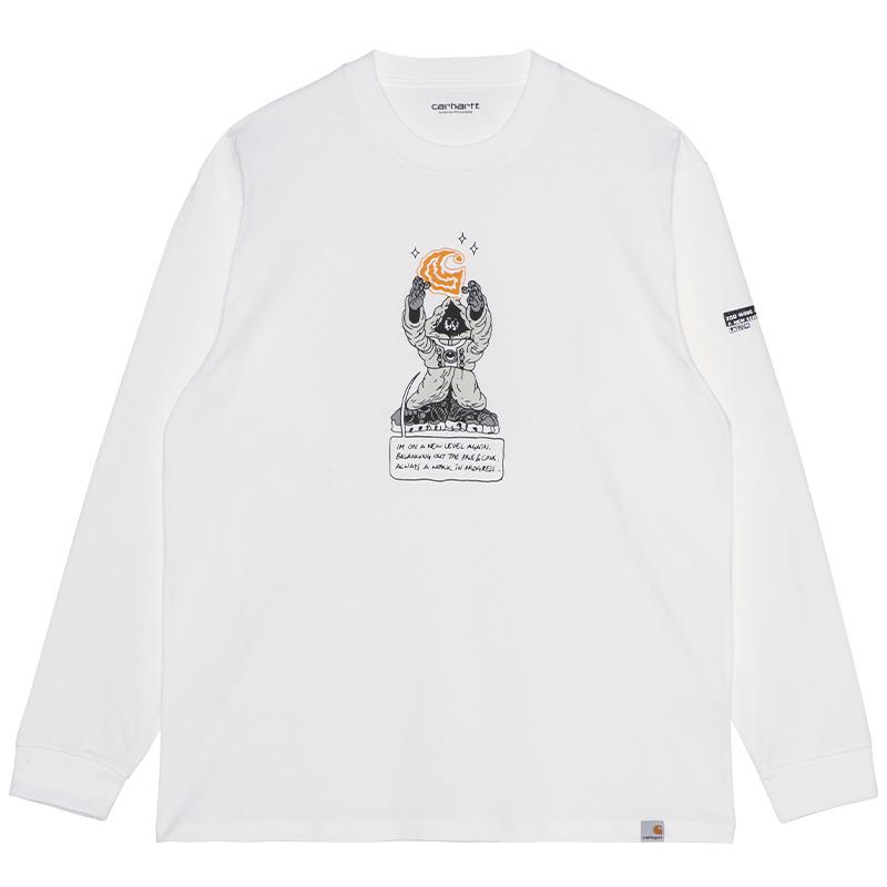 Carhartt WIP Kogancult Level Longsleeve T-Shirt White