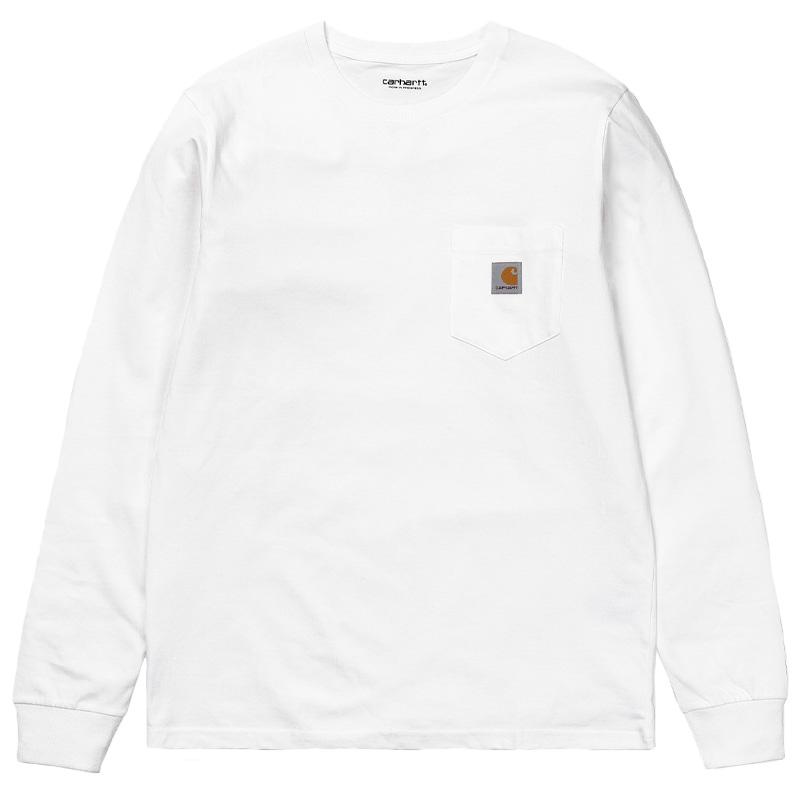 Carhartt WIP Longsleeve Pocket T-Shirt White