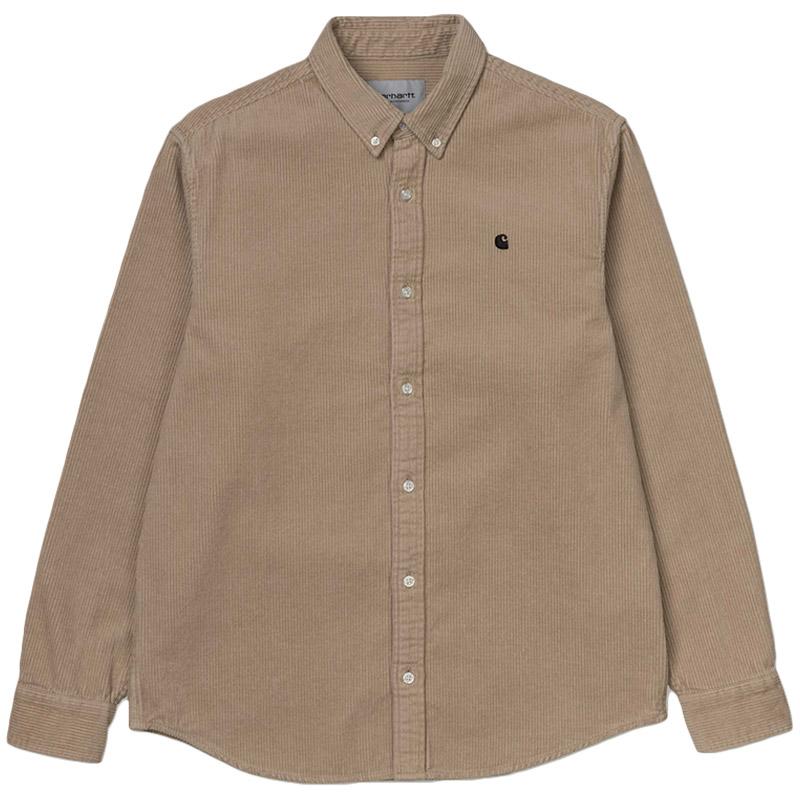 Carhartt WIP Madison Cord Shirt Wall/Black
