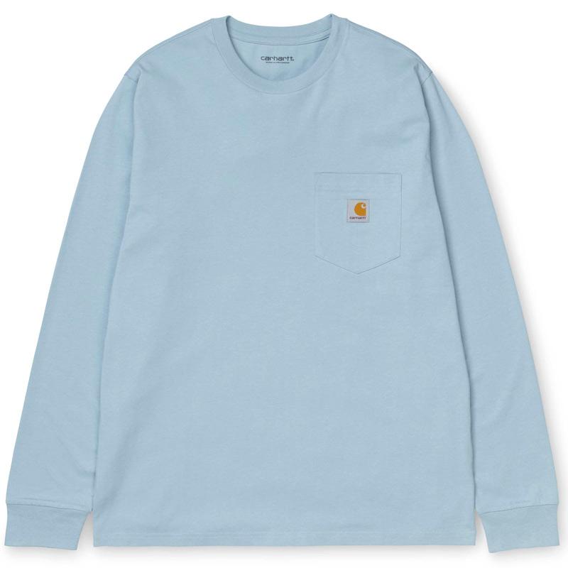 Carhartt WIP Pocket Longsleeve T-Shirt Frosted Blue