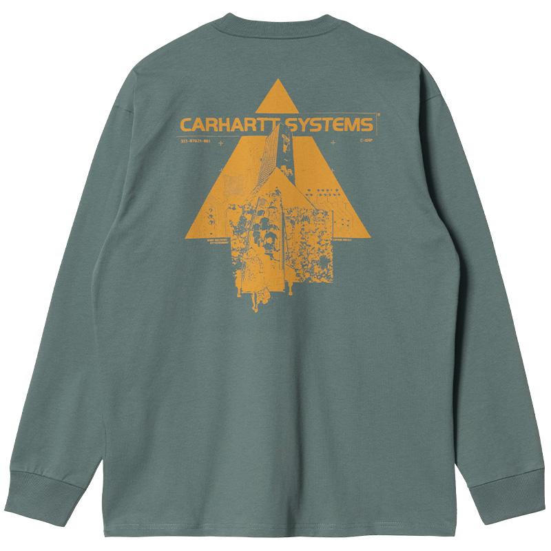 Carhartt WIP Pyramid Longsleeve T-Shirt Eucalyptus/Helios