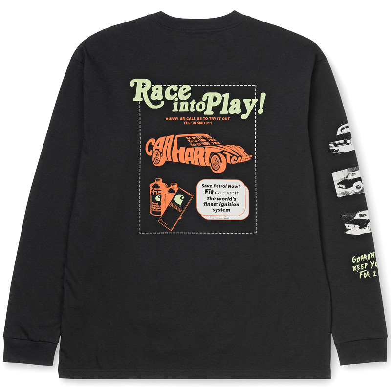 Carhartt WIP Race Play Longsleeve T-Shirt Black