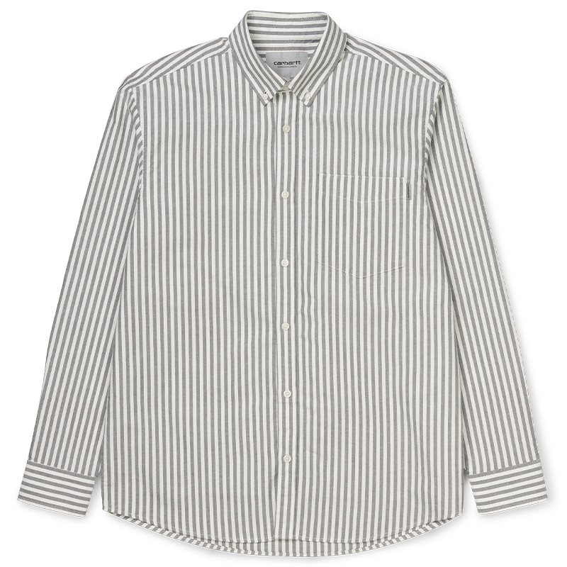 Carhartt WIP Simon Longsleeve Shirt Simon Stripe/ Black
